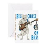 Chase On Bass Greeting Cards