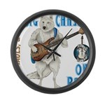 Chase On Bass Large Wall Clock