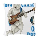 Chase On Bass Woven Throw Pillow