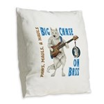Chase On Bass Burlap Throw Pillow