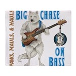 Chase On Bass Throw Blanket