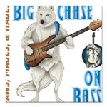 Chase On Bass Square Car Magnet 3