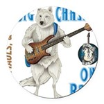 Chase On Bass Round Car Magnet