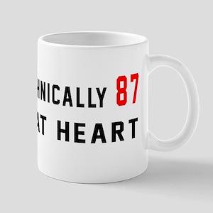 87 Birthday Designs 11 oz Ceramic Mug