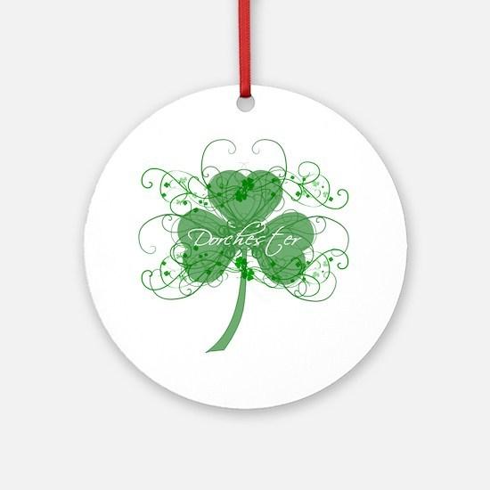 Dot Shamrocks Ornament (Round)
