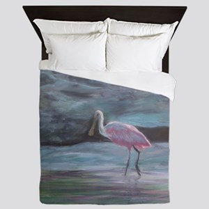 THE REAL FLORIDA-Roseate Spoonbill Queen Duvet