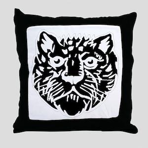 Leopard Face Silhouette Throw Pillow