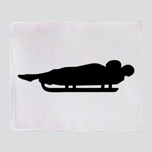 Luge sled Throw Blanket