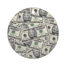 Collage of Currency Ornament (Round)