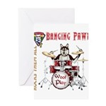 Banging Pawl Greeting Cards