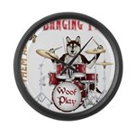 Banging Pawl Large Wall Clock