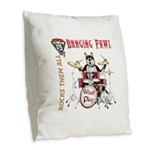 Banging Pawl Burlap Throw Pillow