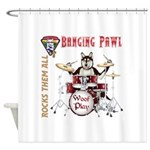 Banging Pawl Shower Curtain