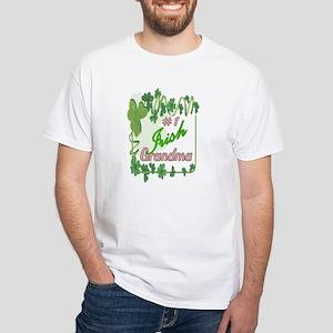 #1 IRISH GRANDMA White T-Shirt