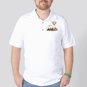 Cream Saluki Lester Golf Shirt