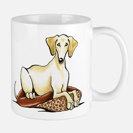 Cream Saluki Lester Mugs