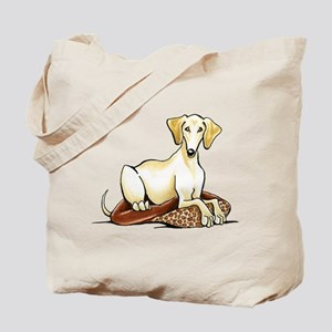 Cream Saluki Lester Tote Bag