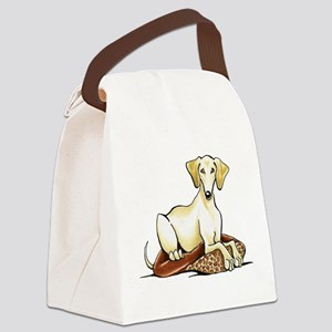 Cream Saluki Lester Canvas Lunch Bag