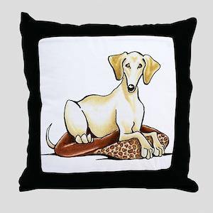 Cream Saluki Lester Throw Pillow