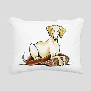 Cream Saluki Lester Rectangular Canvas Pillow
