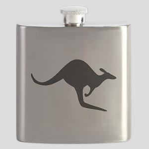Kangaroo Silhouette Flask