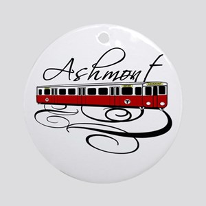 Ashmont Train Ornament (Round)