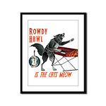 Rowdy Hawl Framed Panel Print