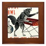 Rowdy Hawl Framed Tile