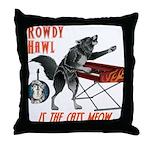 Rowdy Hawl Throw Pillow