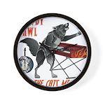 Rowdy Hawl Wall Clock