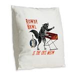 Rowdy Hawl Burlap Throw Pillow