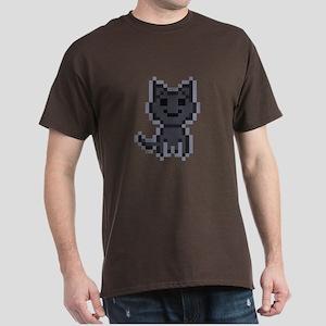 pxl black cat Dark T-Shirt