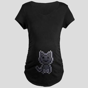 pxl black cat Maternity Dark T-Shirt