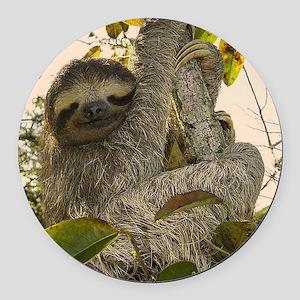 Sloth Round Car Magnet
