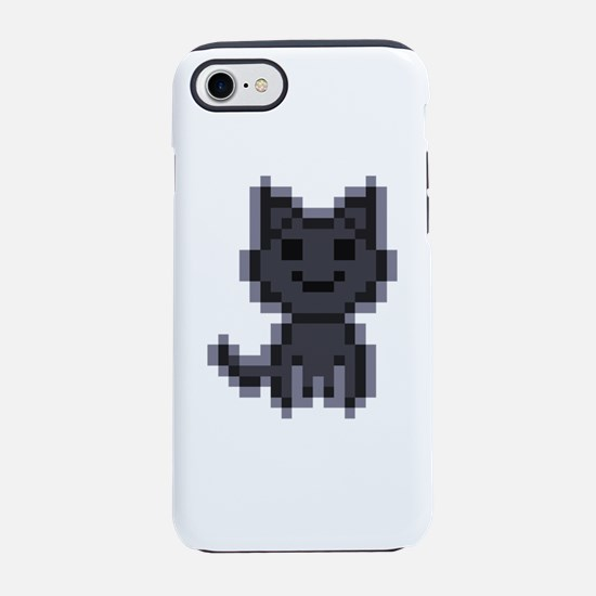 pxl black cat iPhone 7 Tough Case