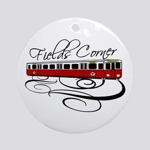 Fields Corner Train Ornament (Round)