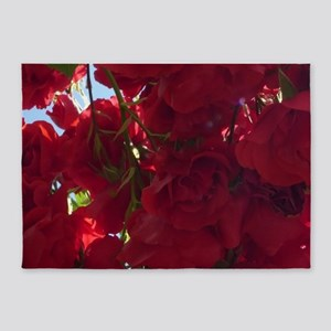 Red Roses 04 5'x7'Area Rug