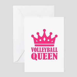Volleyball queen crown Greeting Card