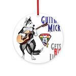 Guitar Mick Ornament (Round)