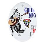 Guitar Mick Ornament (Oval)