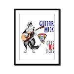 Guitar Mick Framed Panel Print
