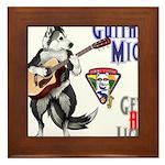 Guitar Mick Framed Tile