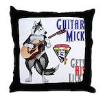 Guitar Mick Throw Pillow