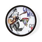 Guitar Mick Wall Clock
