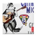 Guitar Mick Tile Coaster