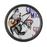 Guitar Mick Large Wall Clock