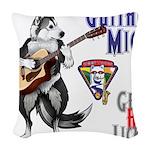 Guitar Mick Woven Throw Pillow