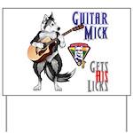 Guitar Mick Yard Sign