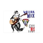 Guitar Mick Wall Decal