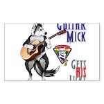 Guitar Mick Sticker